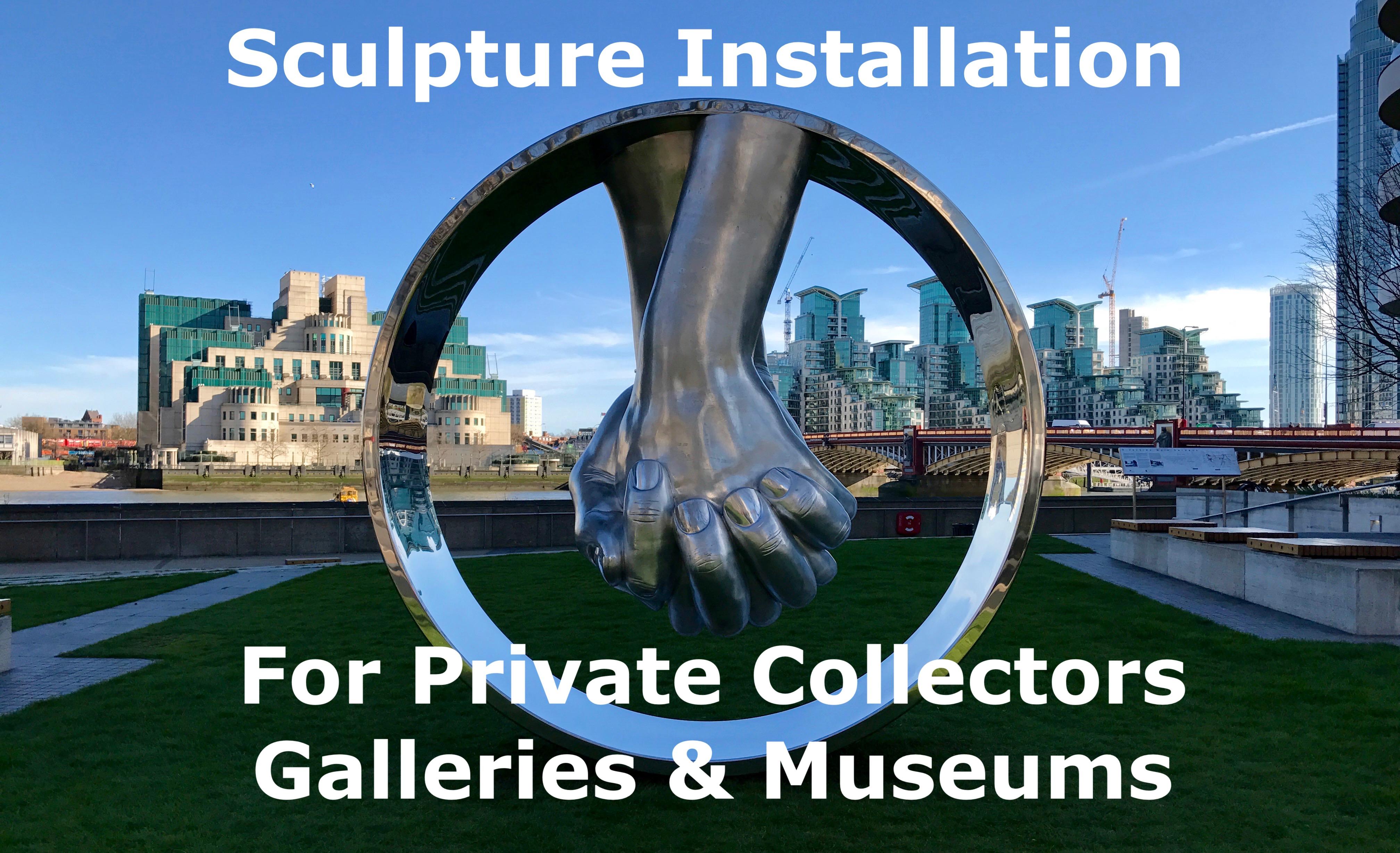 sculpture install